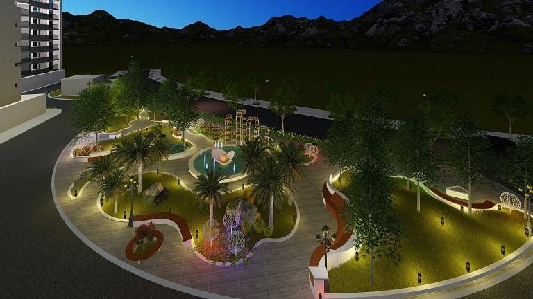 không gian cảnh quan thiên nhiên của resort
