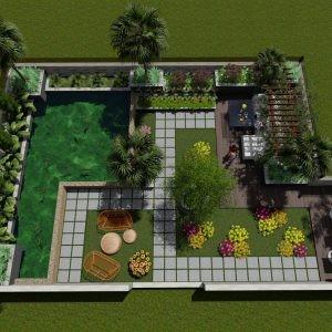 thiết kế thi công cảnh quan cây xanh