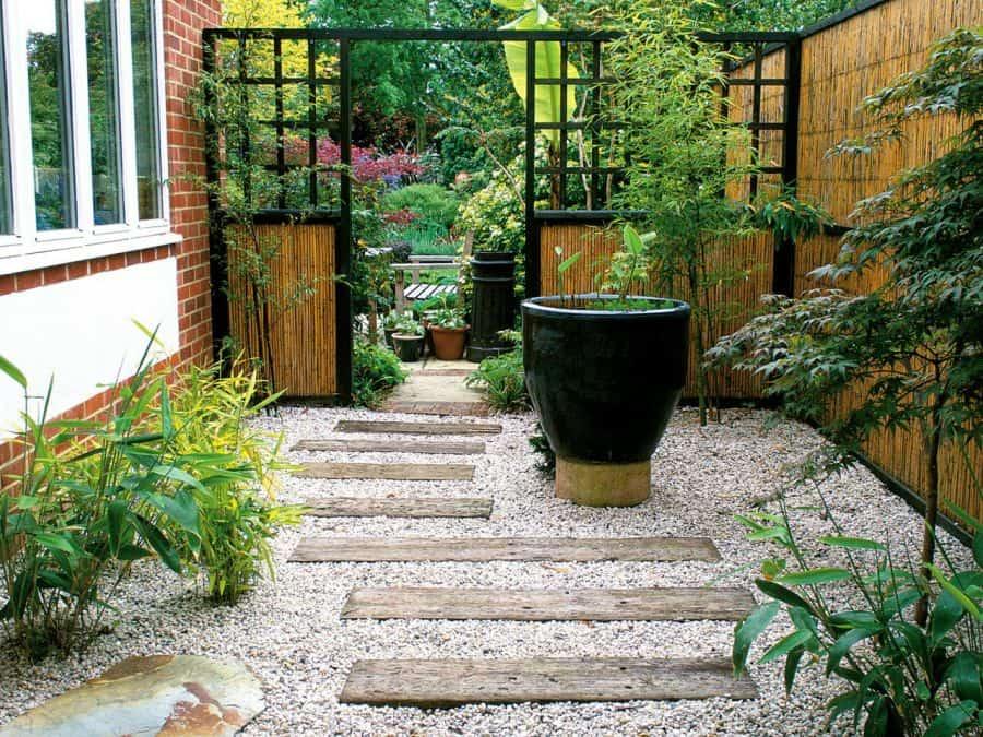 Cách bố trí cây cảnh trong sân vườn