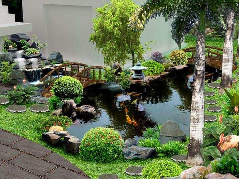 Bố trí cây cảnh sân vườn