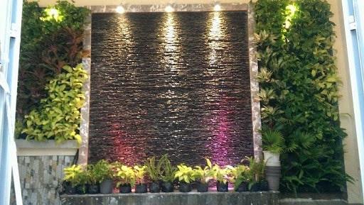mẫu thác nước trên tường đẹp