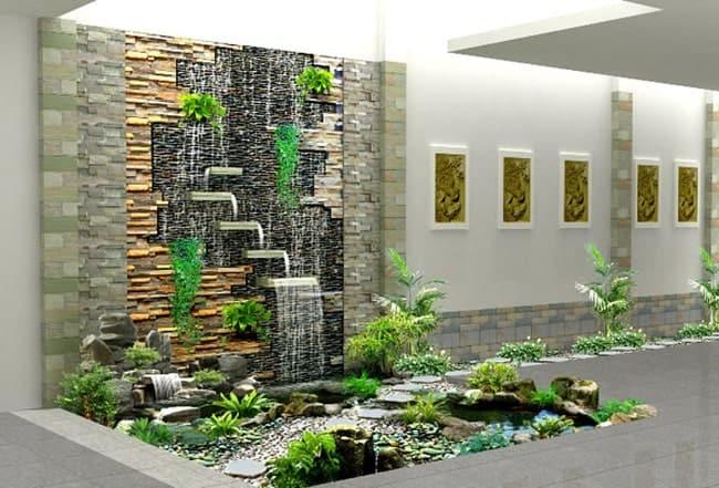 mẫu thác nước trên tường