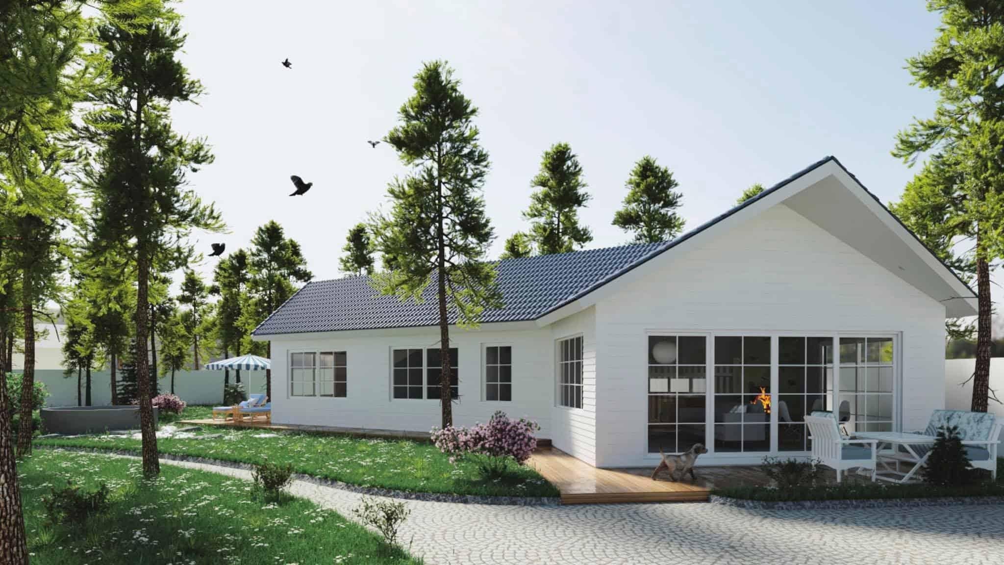 thiết kế thi công ngoại thất sân vườn