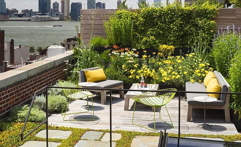 chi tiết cấu tạo sân vườn trên mái