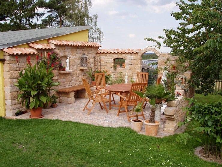 mẫu sân vườn kiểu Địa Trung Hải đẹp