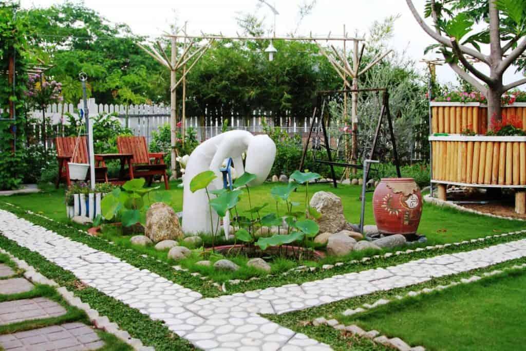 Thi công tiểu cảnh sân vườn
