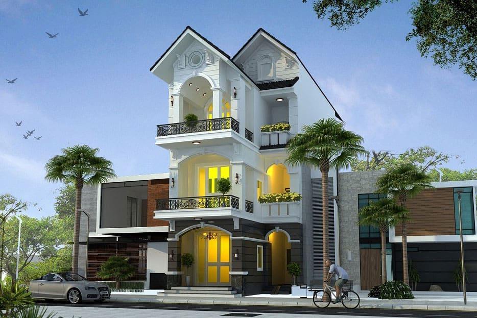 thiết kế ngoại thất cho nhà mặt phố
