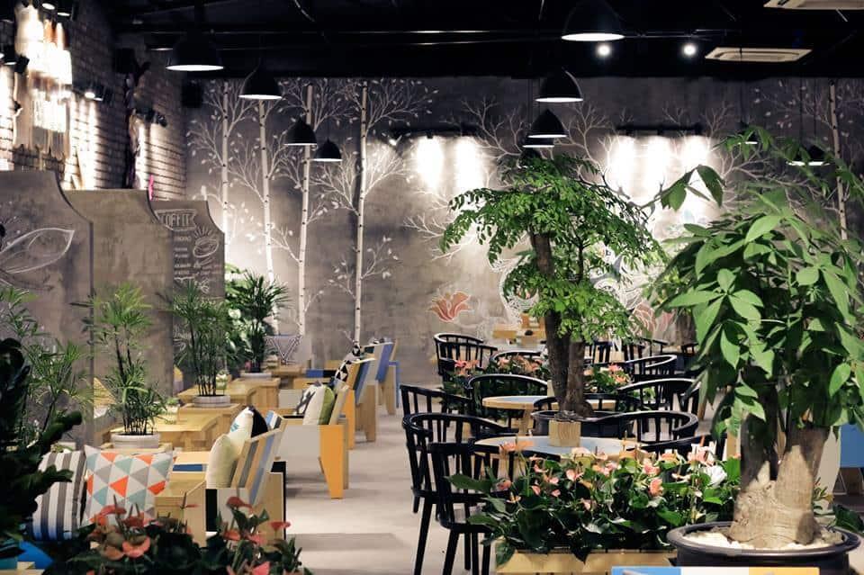 Mẫu sân vườn quán cafe Châu Âu