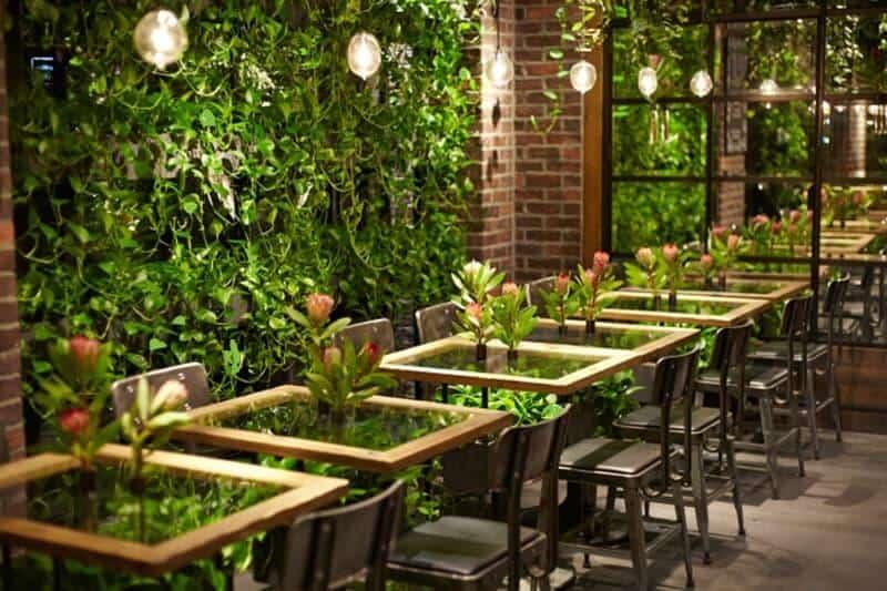 Thiết kế sân vườn quán cafe hướng đồng quê