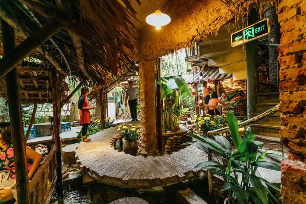 Thiết kế sân vườn quán cafe làng quê
