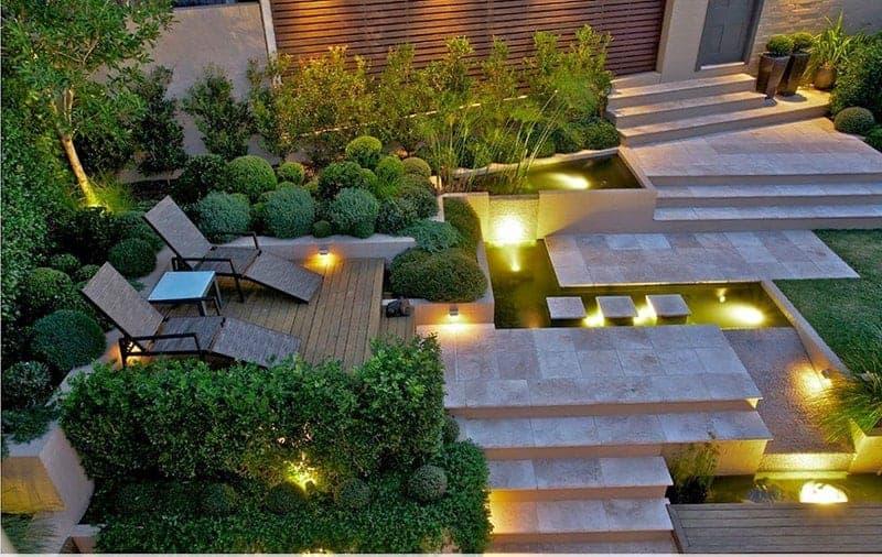 thiết kế sân vườn mang phong cách châu Âu