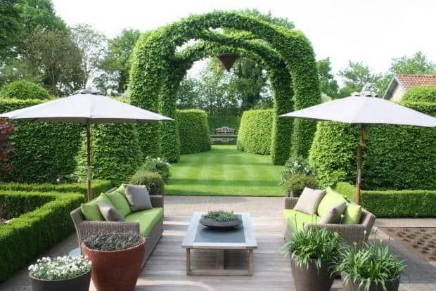 kiểu dáng sân vườn hiện đại