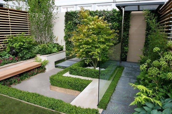 cảnh quan sân vườn hiện đại