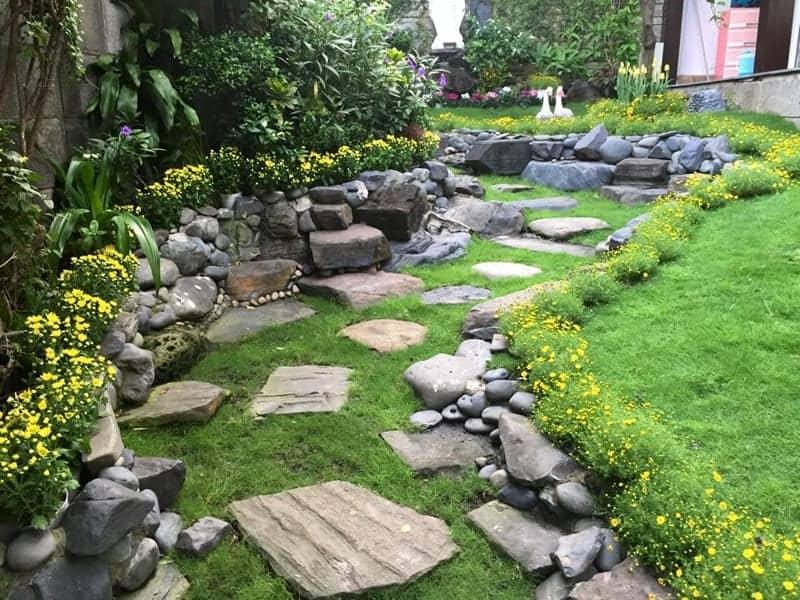 sân vườn mang phong dáng châu Âu