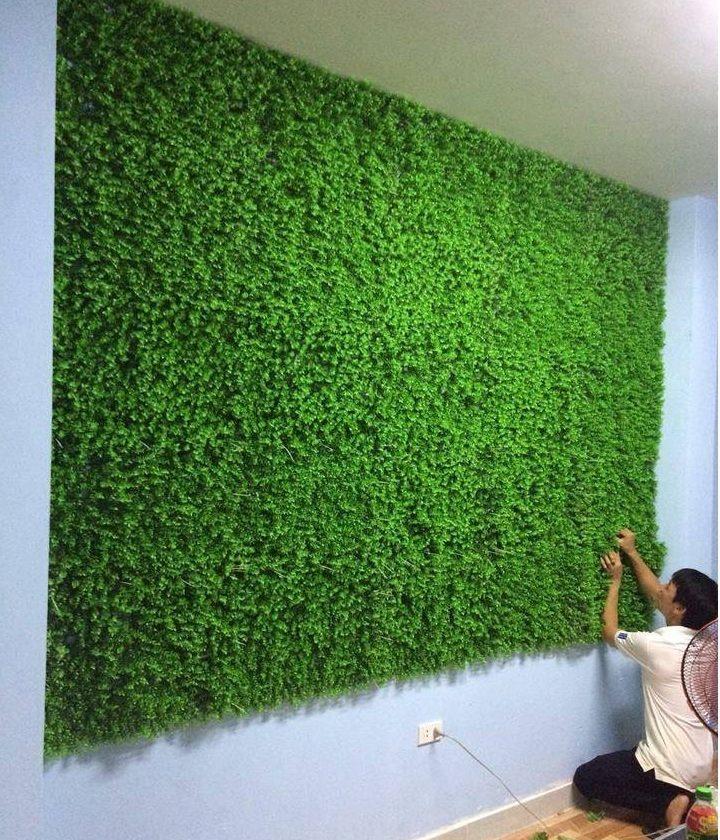 cách trang trí thảm cỏ trên tường